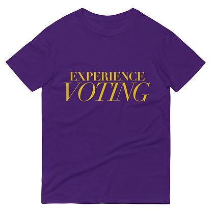PURPLE EXPERIENCE VOTING TEE