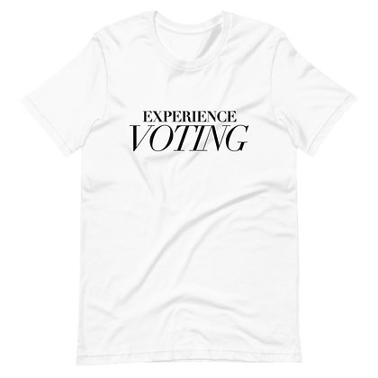 WHITE EXPERIENCE VOTING TEE