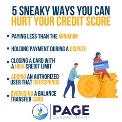 Sneaky Ways You Can Hurt Your Credit Score