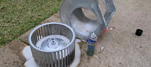Blower fan cleaning