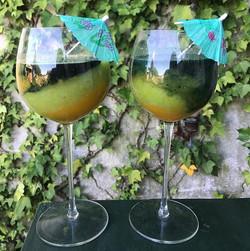 Ce matin, petit jus : orange kiwi spiruline 🤤 #frais #spiruline #vitamines #bonmatin