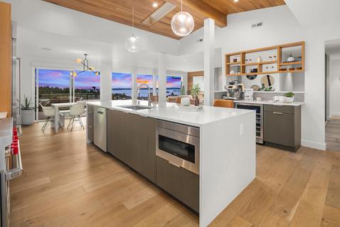 mid century modern kitchen island