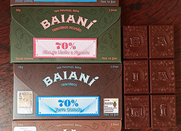 Chocolates barra BAIANÍ