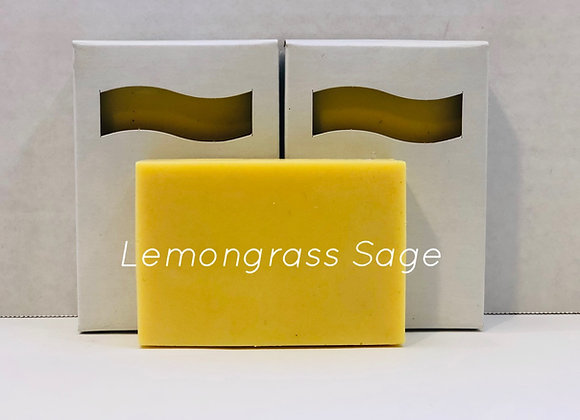 Lemongrass Sage Shea Butter Soap