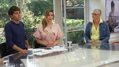 אורן זך מארחת אצל פאולה וליאון בערוץ 2