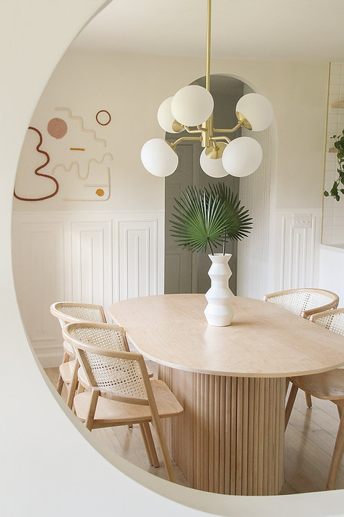 DIY Fluted Dining Table Plans