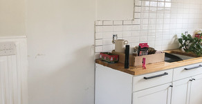SPRING ONE ROOM CHALLENGE, WEEK FOUR: TILE + CABINETS