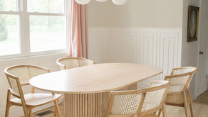 SPRING ONE ROOM CHALLENGE, WEEK TWO: DIY FLUTED DINING TABLE