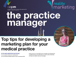 Top tips for developing a marketing plan for your medical practice-as featured in AAPM Publication