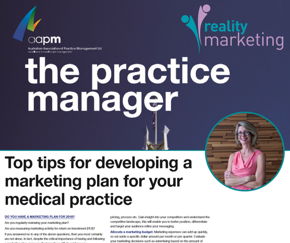 Top tips for developing a marketing plan for your medical practice