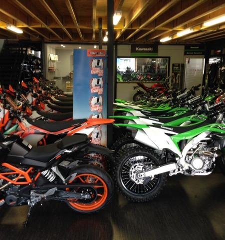 Coastal Motorcycle Centre Showroom I KTM I KAWASAKI