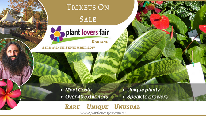 Come join us at the Plant Lovers Fair 2017- September 23rd & 24th- Kariong