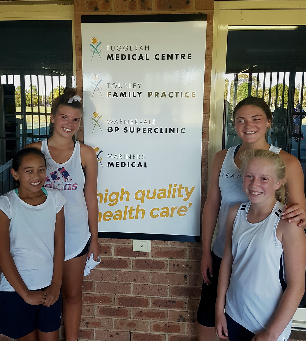 Toukley Family Practice supports Wyong Netball Association