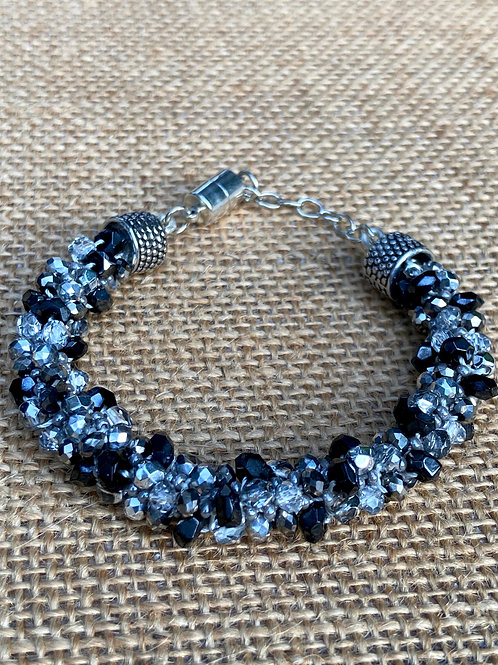 Woven in Black and Silver