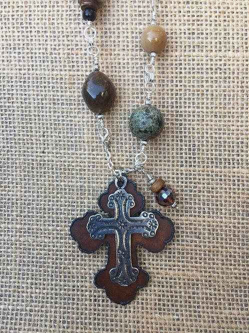 Double Cross Pendant