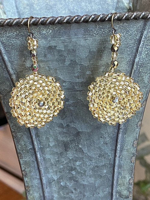 Gold Beaded Disks