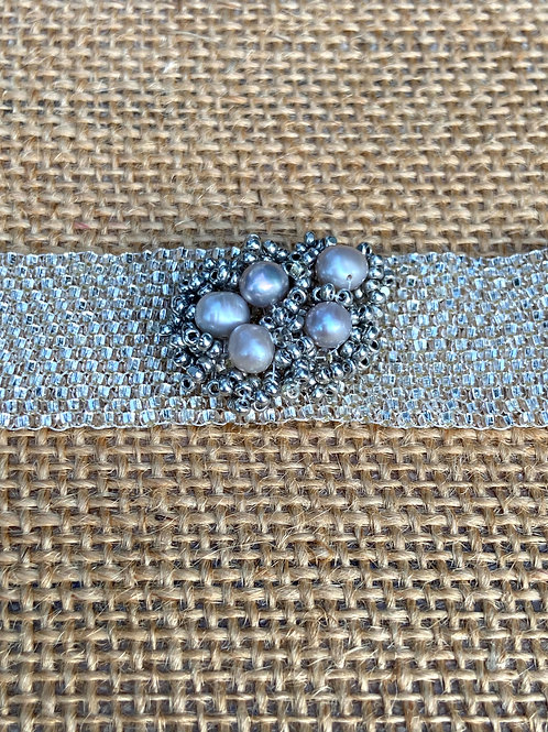 Grey Pearls and Crystals