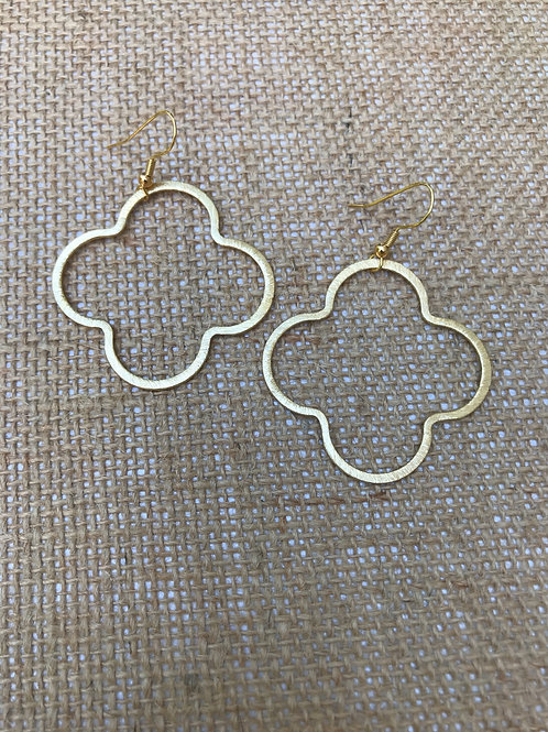 Quatrefoil Large Gold Earrings