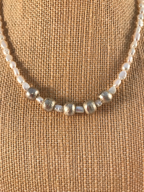 Pearl and Silver Choker