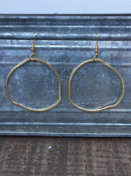 Freeform Gold Hoops