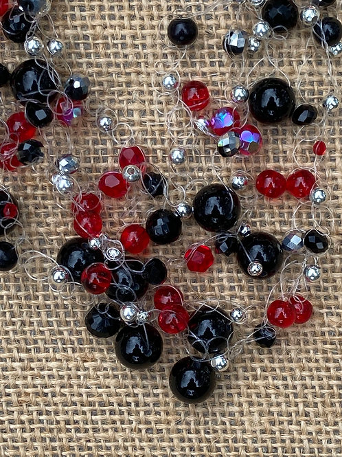 Red, Black, and Silver