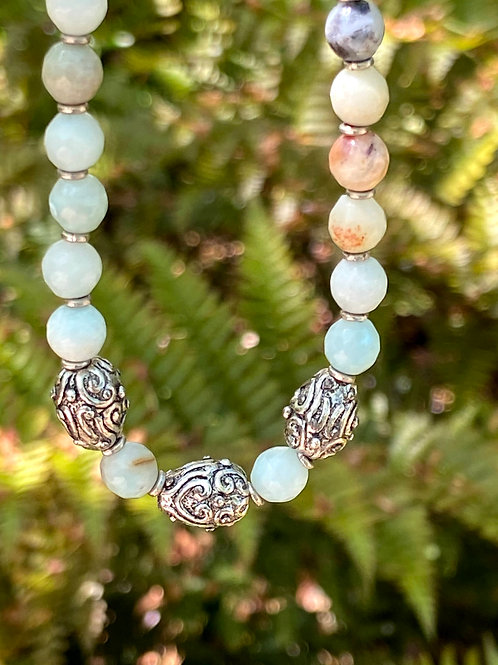 Amazonite and Silver