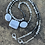 Thumbnail: Mask Chain Necklace in Grey and Silver