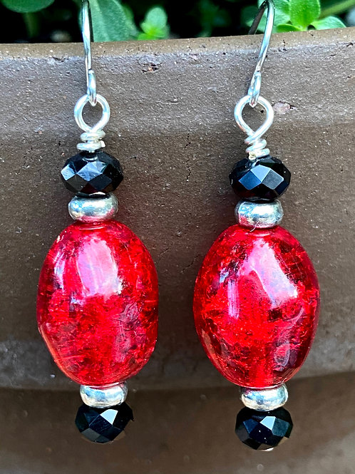 Red, Black, and Silver Drops