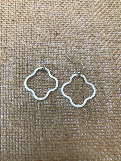 Quatrefoil Small Silver Earrings