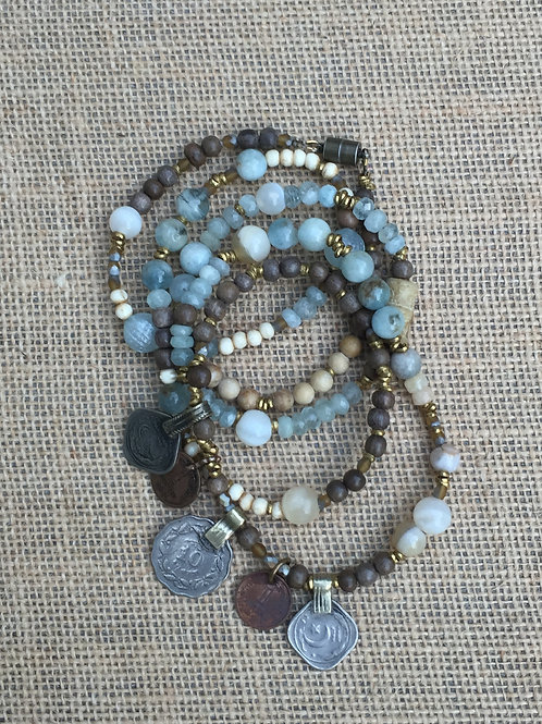 Two-in-One Wrap Bracelet or Long Necklace