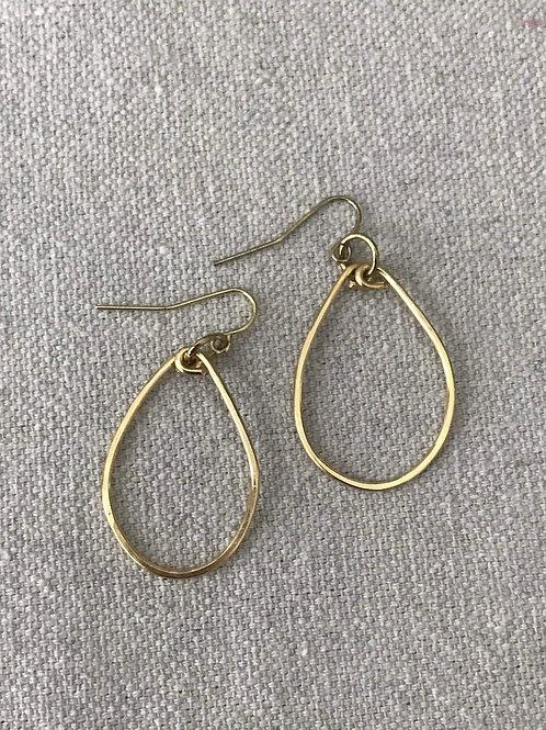 Gold Hammered Ovals