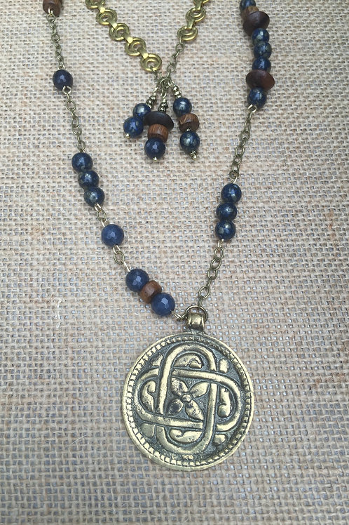 Double Strand Brass and Blue