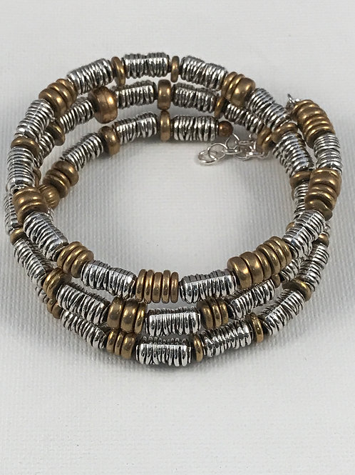 Triple Wrap Gold and Silver