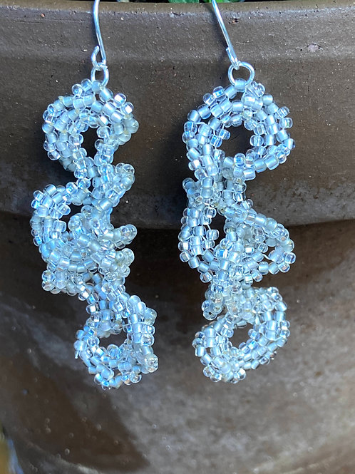 Frilly Silver and Crystal