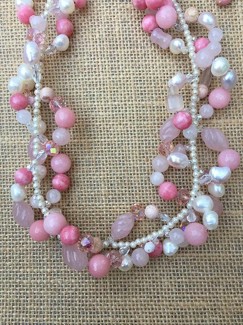 Pearls and Rose Quartz Vines