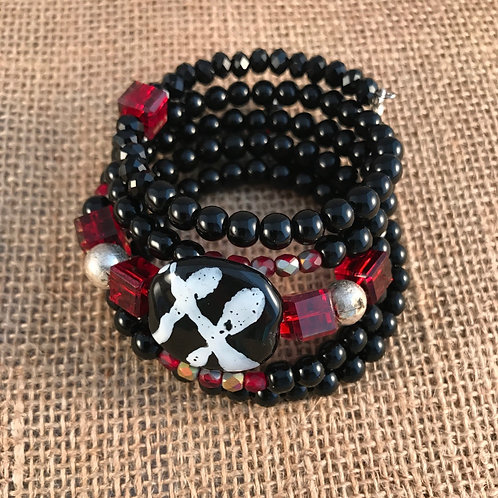5 Wrap Red and Black