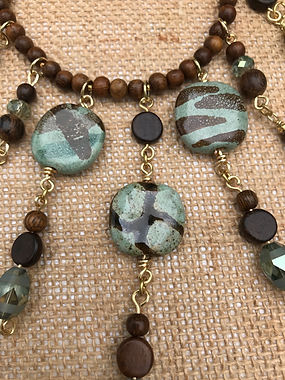 African Kazuri bead necklace