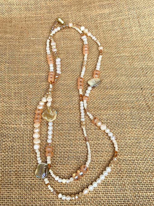 Long Multiwrap Necklace or Bracelet