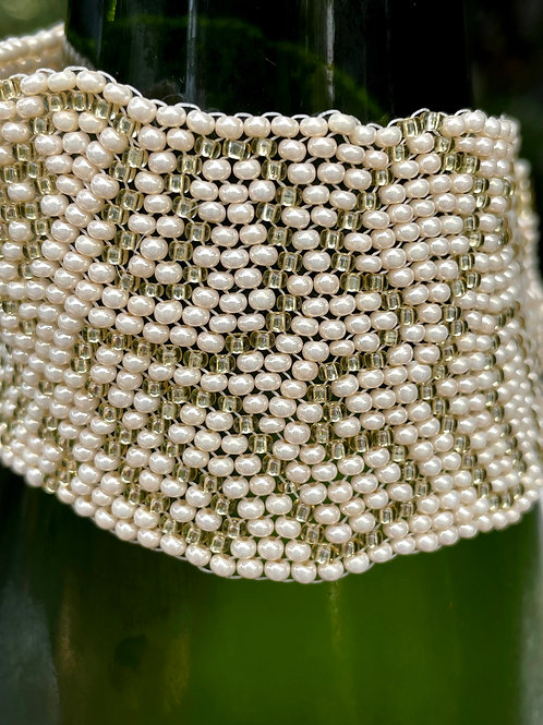 Freeform Gold and Pearls