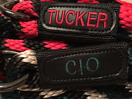 Lead rope personalized with embroidery