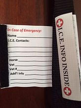 I.C.E. Halter emergency contact form