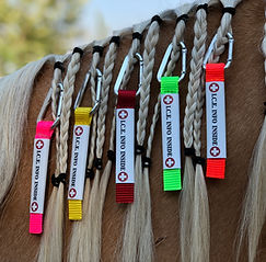 emergency braid-in mane tag I.C.E. UltraLite ID natural disaster horse equin