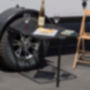 Tail Gater Tire Table horse camping
