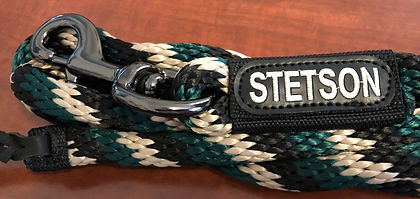 Embroidered lead rope