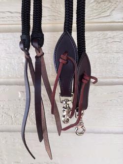 Reins shown with dark leather