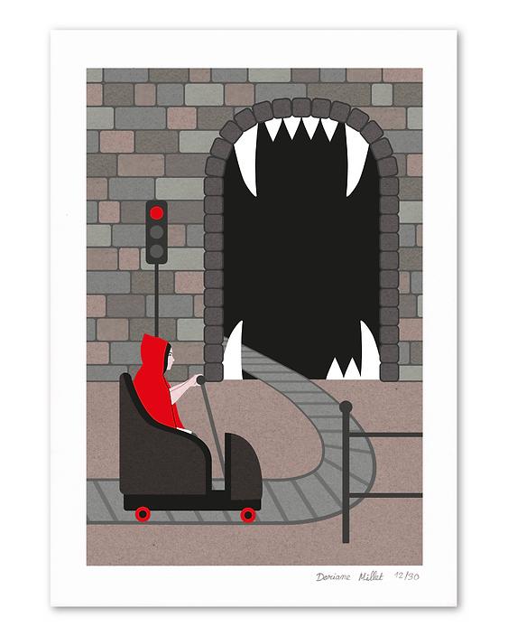 Le loup giclée print