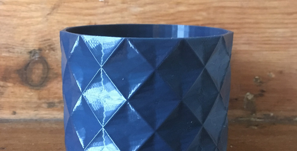 9cm navy diamond pot
