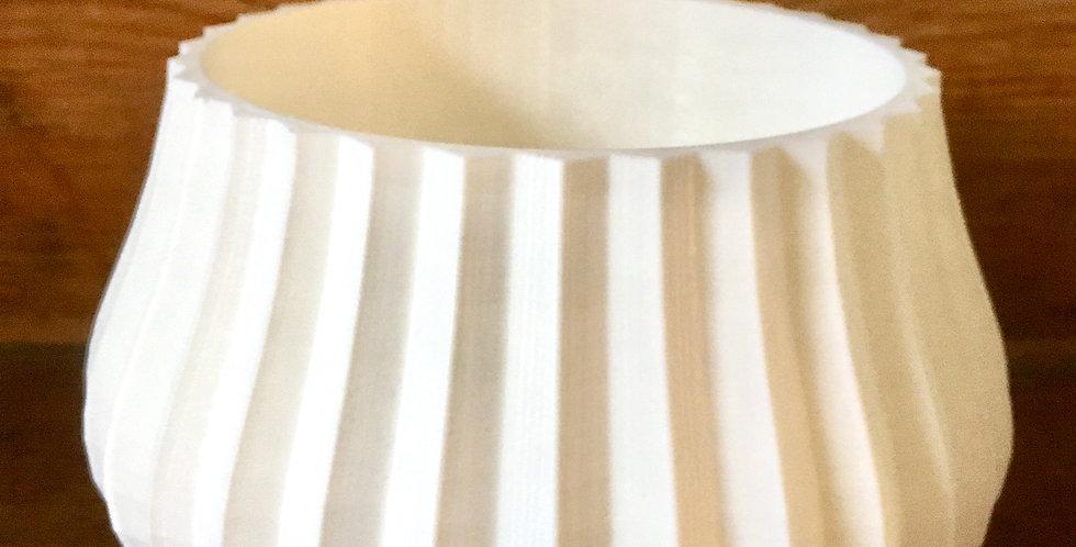 12cm white flute pot