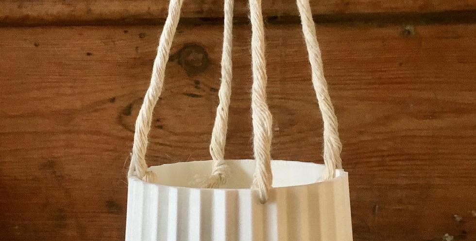 9cm white hanging pot
