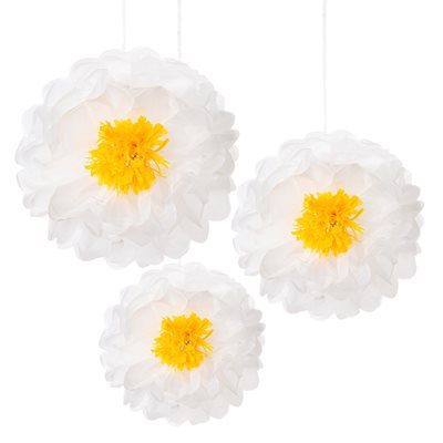 Decadent Decs Daisy Flower Pom Poms